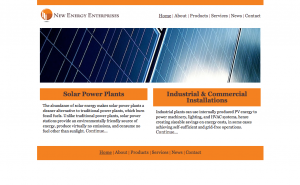New Energy Enterprises Website